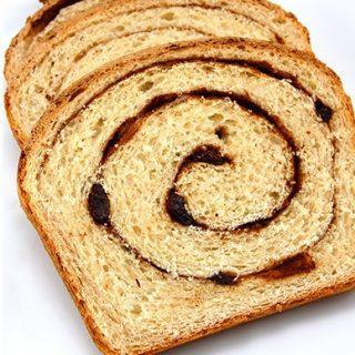 Raisin Cinnamon Swirl Bread