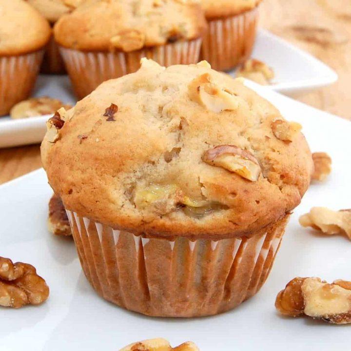 Moist Homemade Banana Walnut Muffins Recipe