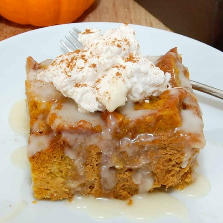 Rum Raisin Pumpkin Bread Pudding