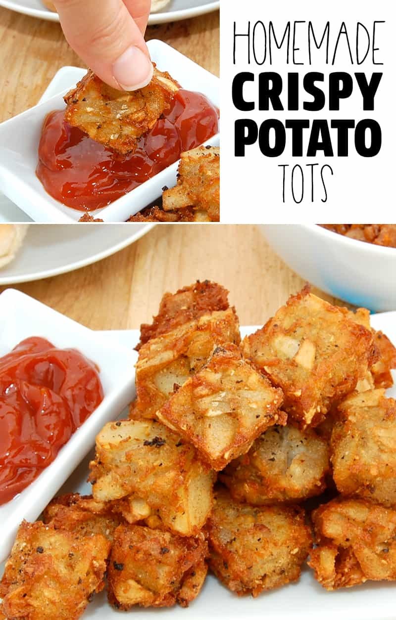homemade crispy potato tots tater tots