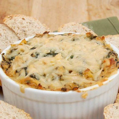 Homemade Hot Spinach Artichoke Dip Recipe