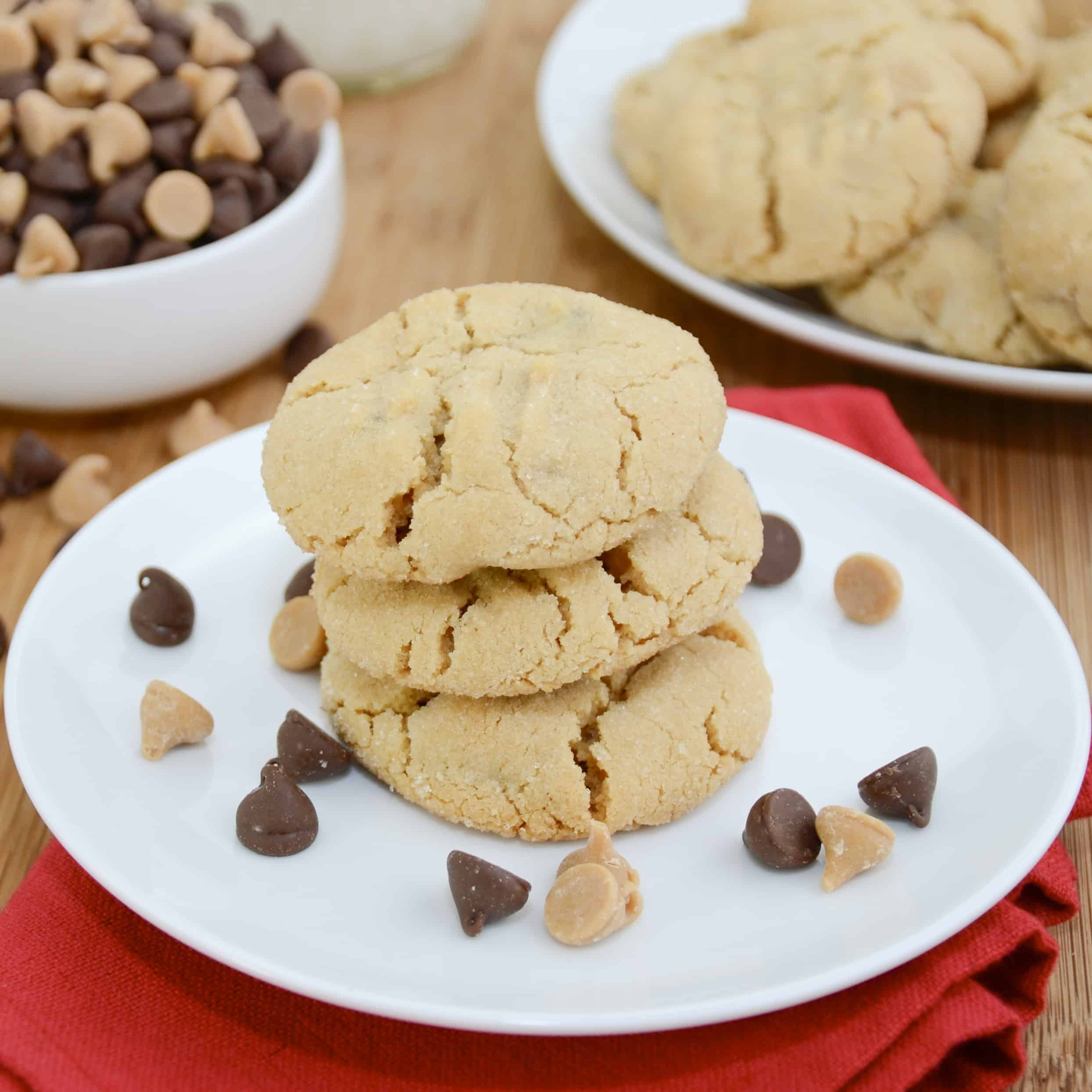 Double Chip Peanut Butter Cookies