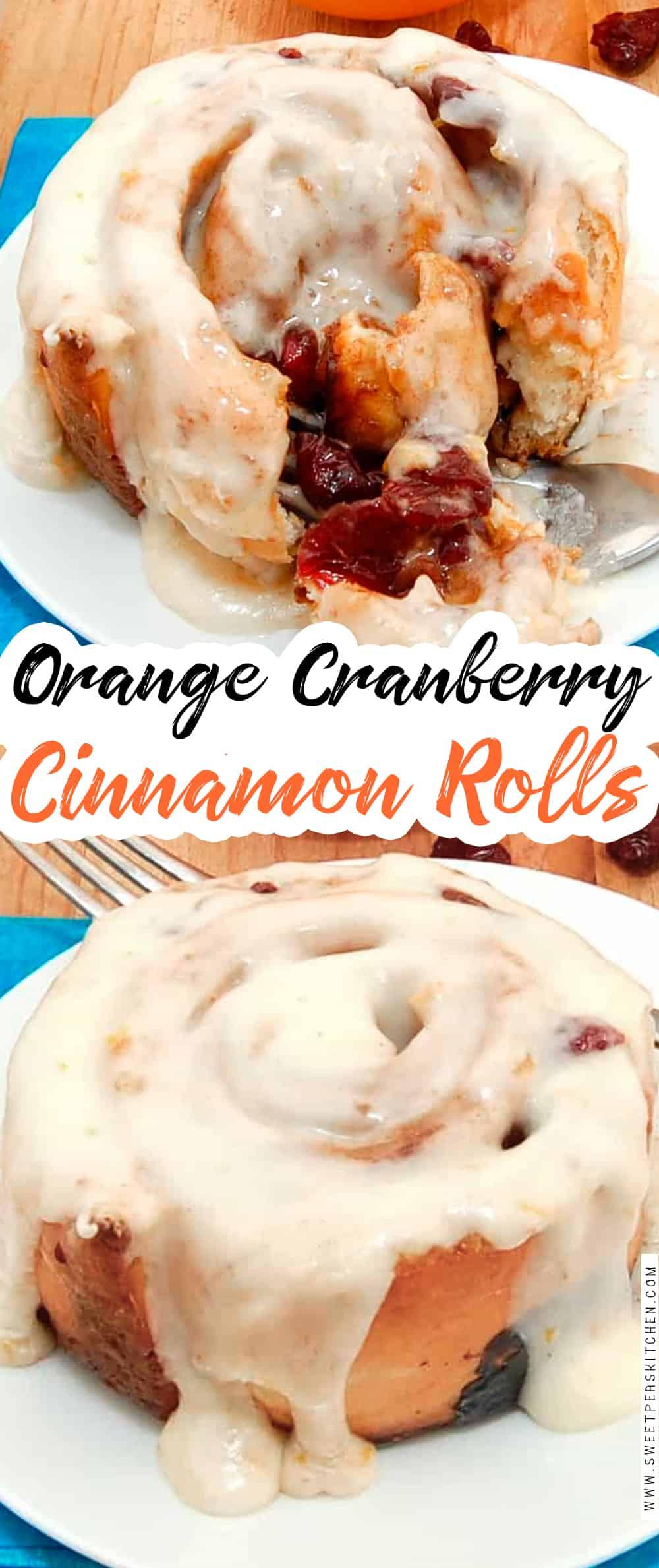 Orange Cranberry Cinnamon Rolls