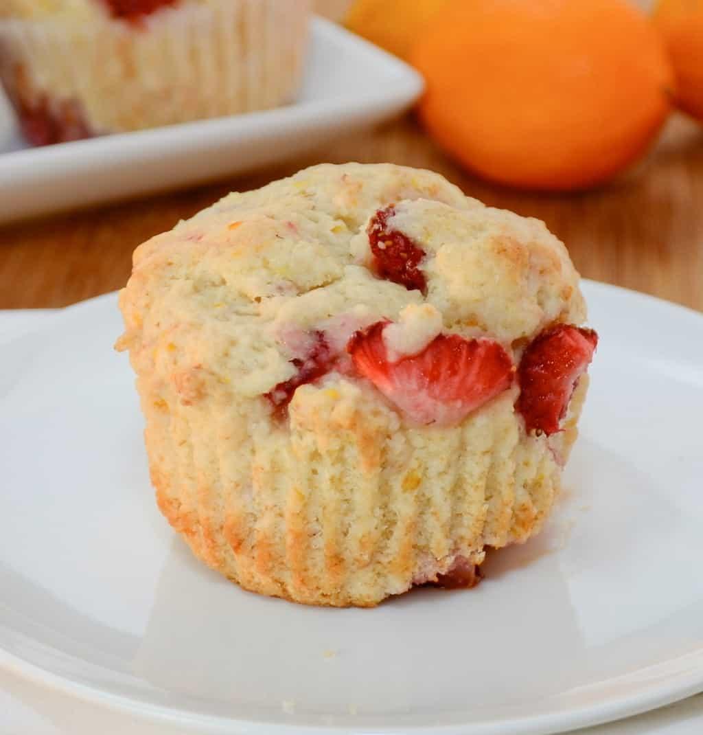 Meyer Lemon Strawberry Muffins