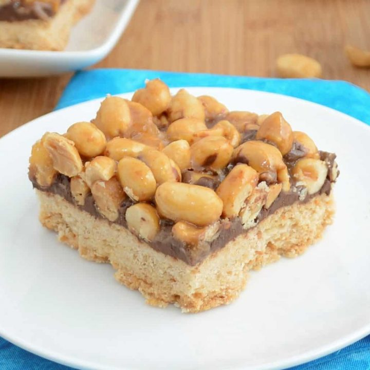 Sticky Peanut Butter Cookie Bars
