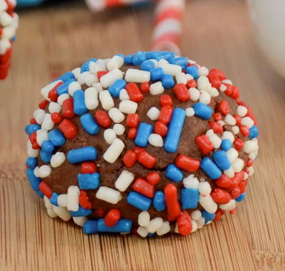 Patriotic Chocolate Cake Balls