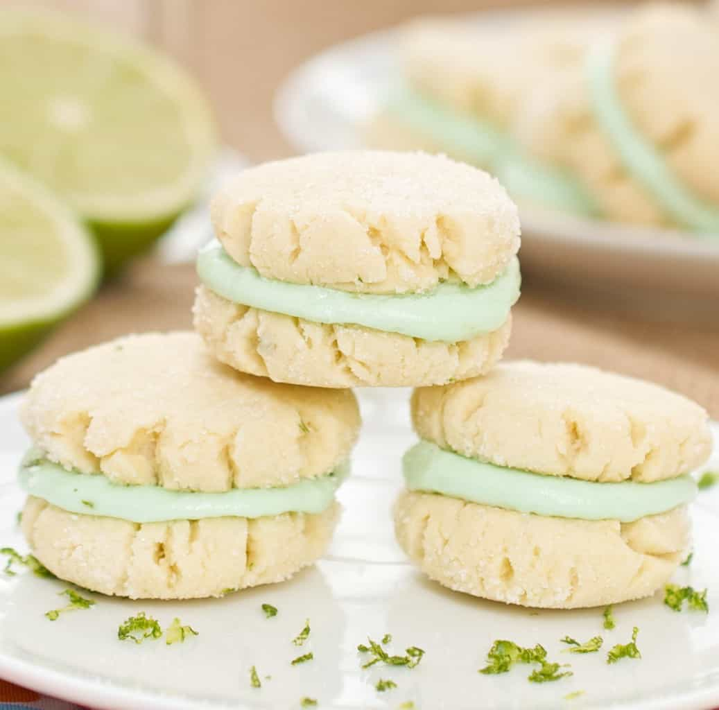 Margarita Sandwich Cookies Recipe with Lime Buttercream