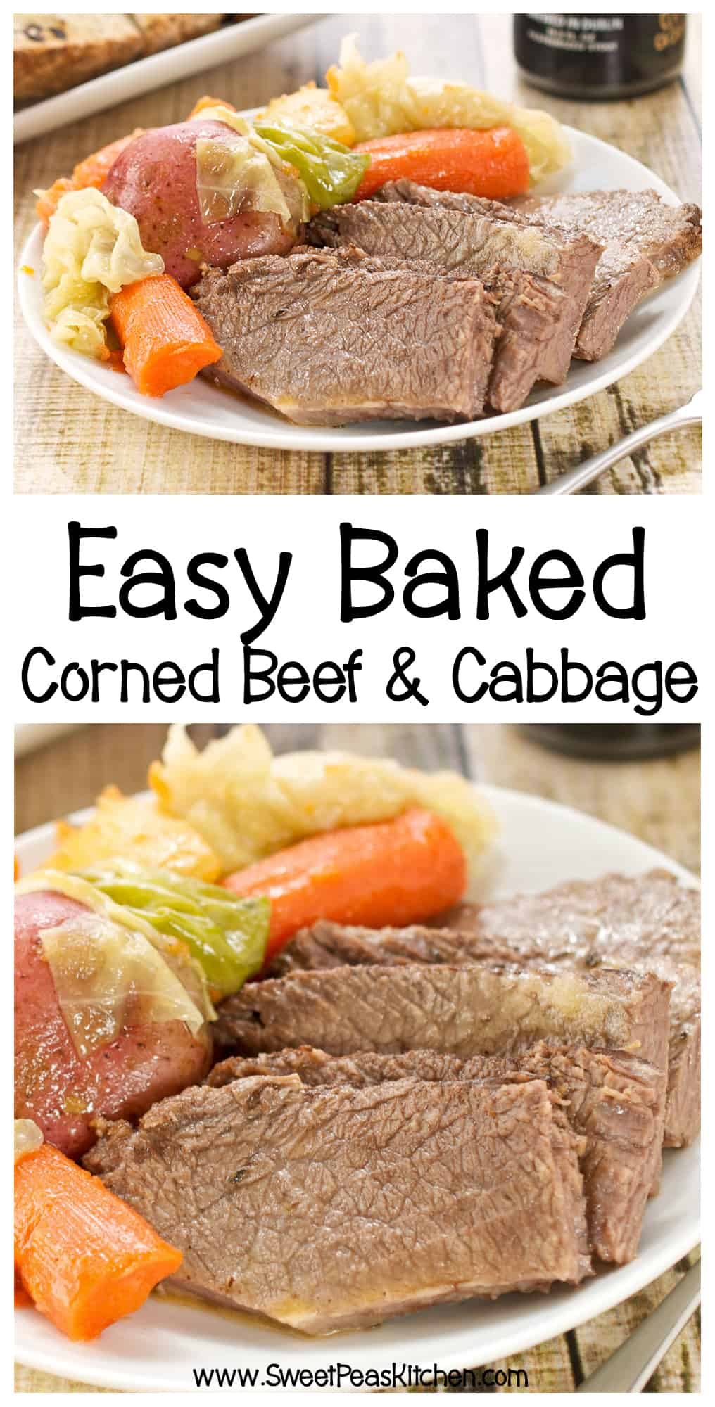 corned beef and cabbage collage