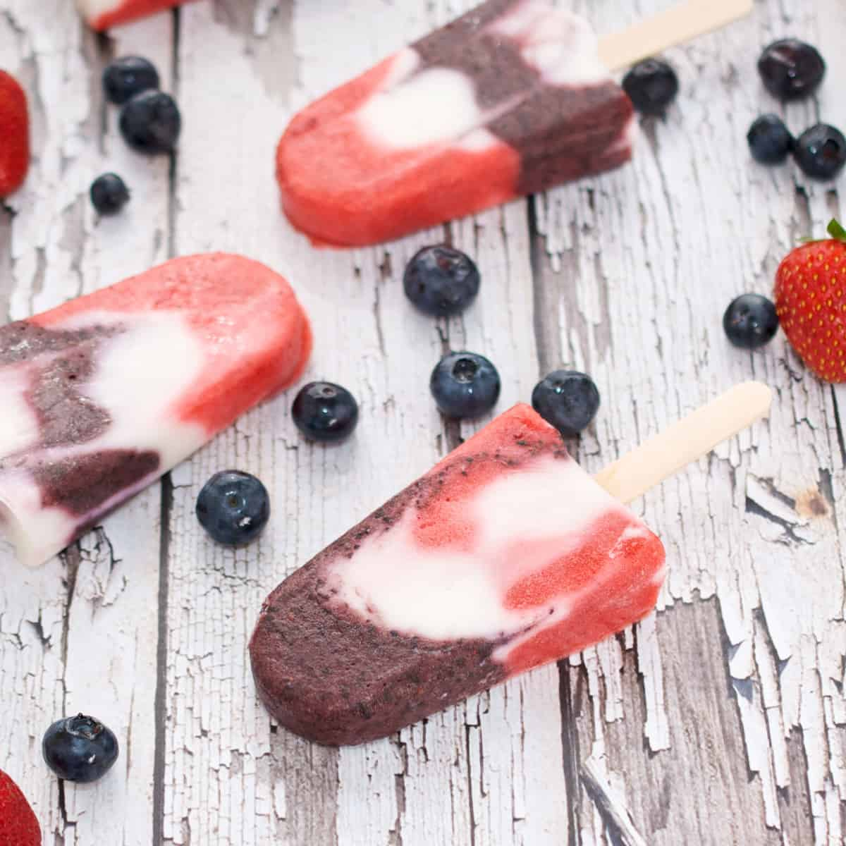 Red White And Blue Firecracker Popsicles