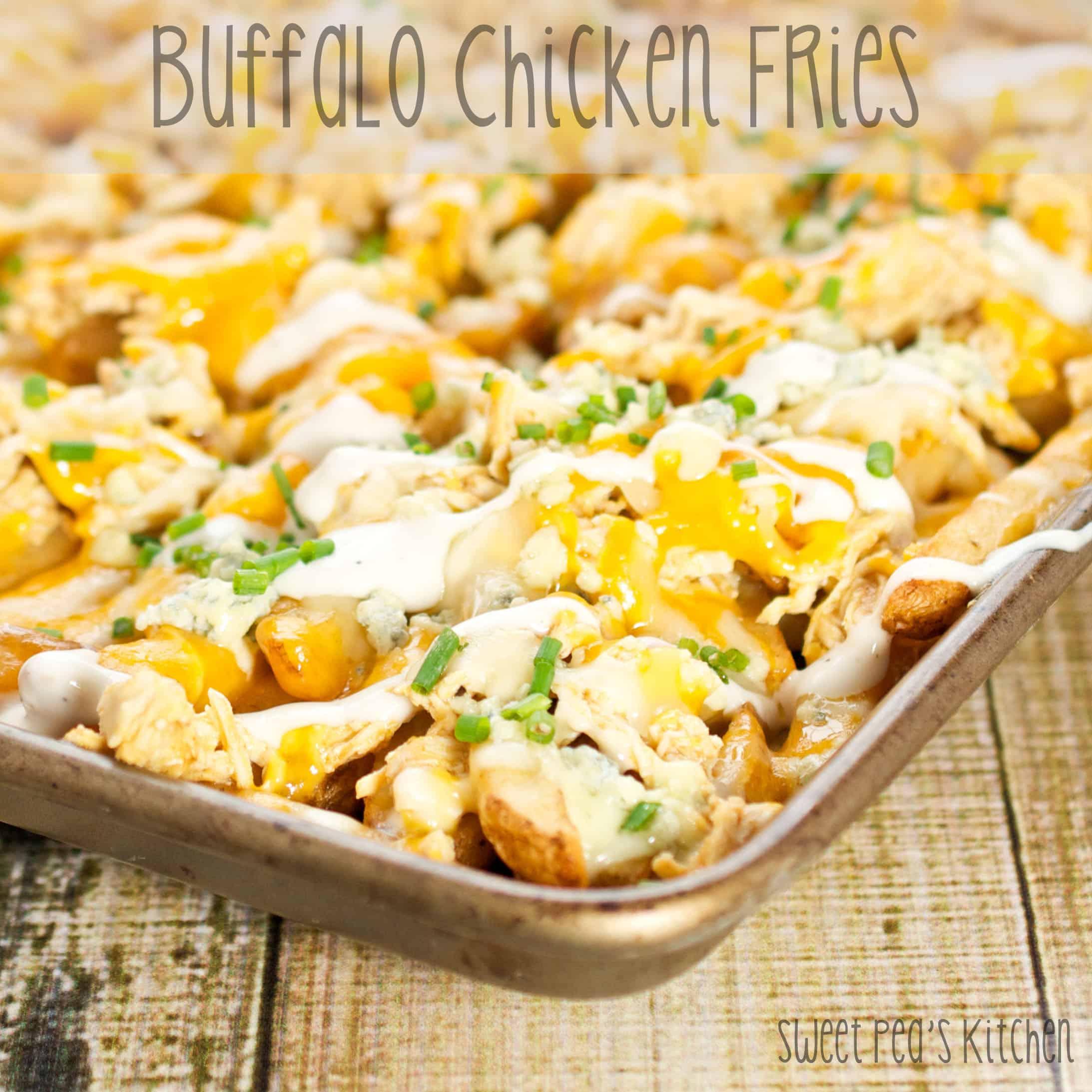 Loaded Buffalo Chicken Fries