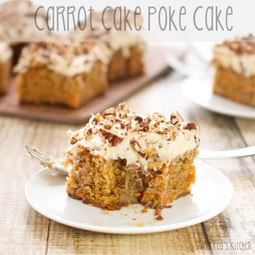 carrot cake on a white plate