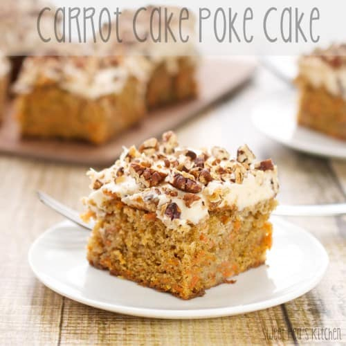 carrot cake from scratch on a white plate