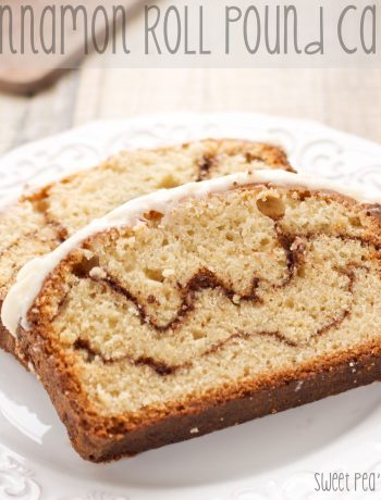 two slices of cinnamon pound cake