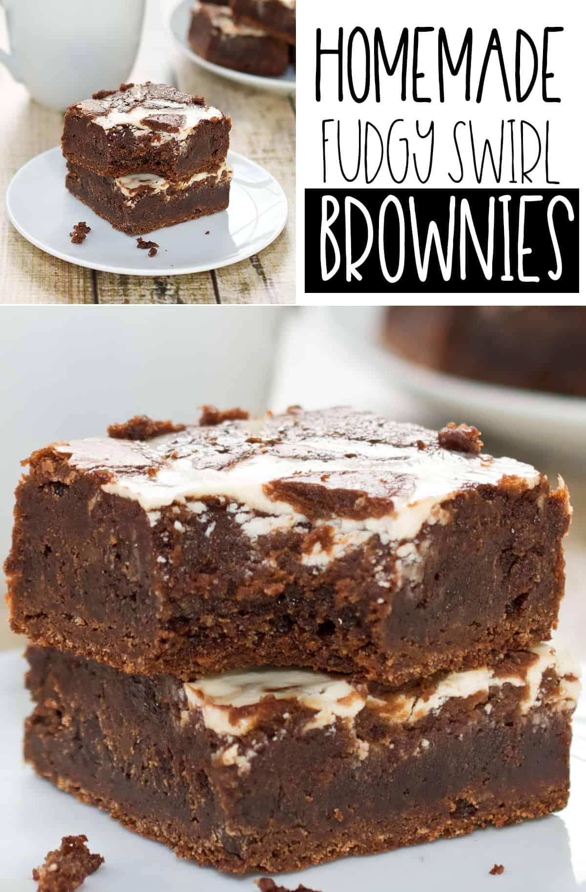 Easy Homemade Fudgy Swirl Brownies Recipe
