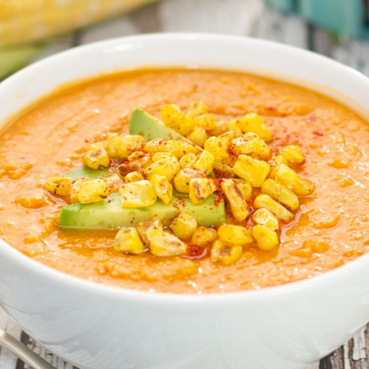 Roasted Corn and Tomato Soup