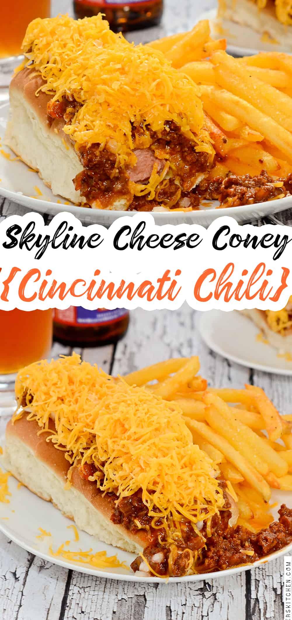 Skyline Cheese Coney {Cincinnati Chili}
