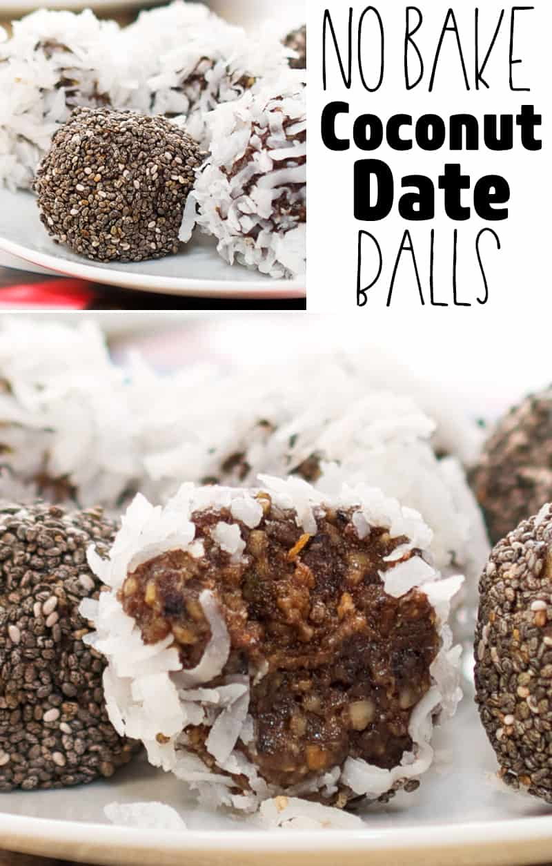 No Bake Coconut Date Balls