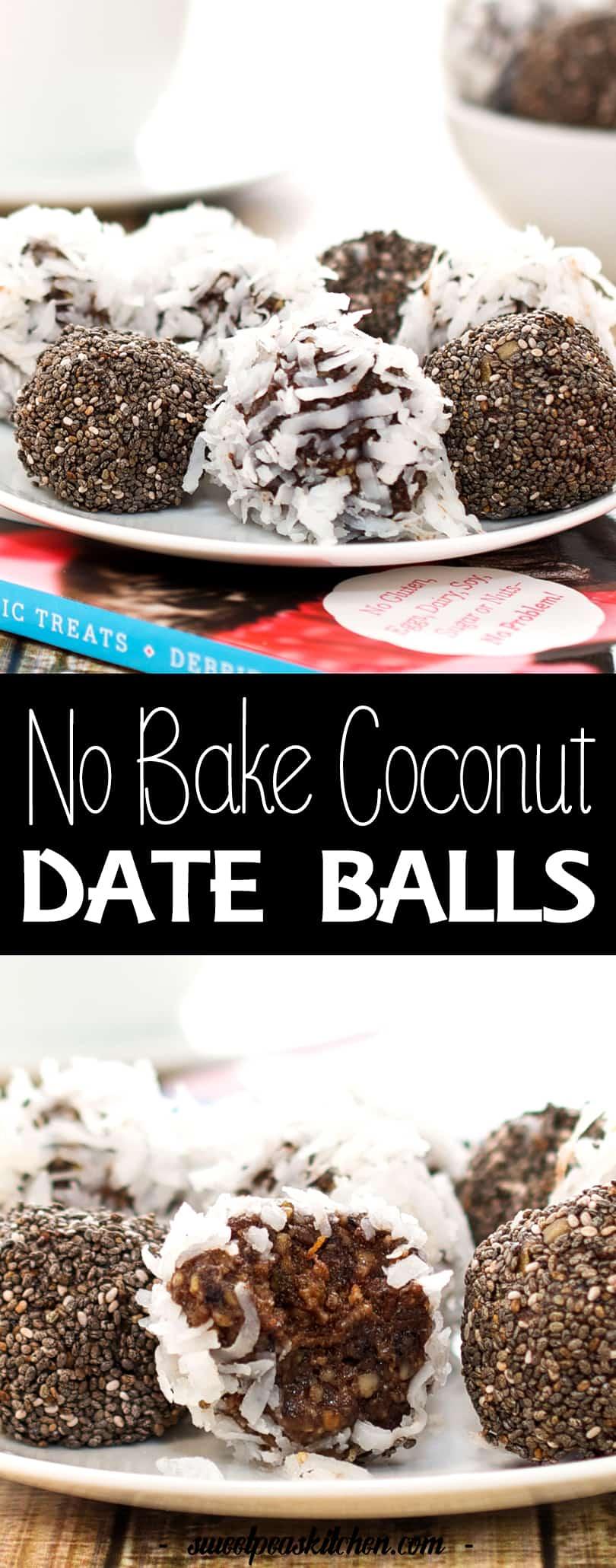 No Bake Coconut Date Balls