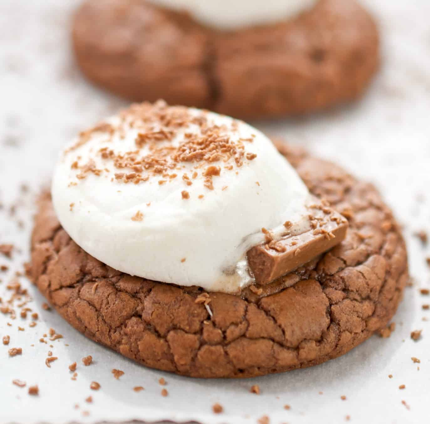 Chocolate Hot Cocoa Cookies