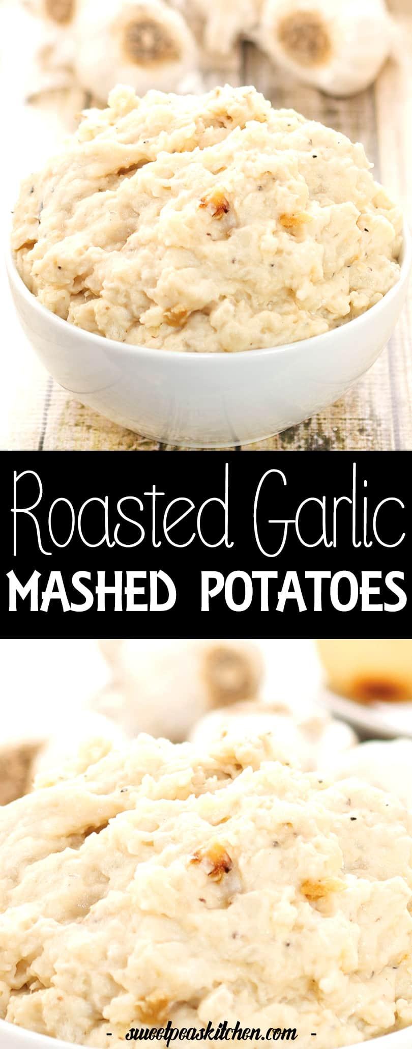 Homemade roasted garlic mashed potatoes Recipe