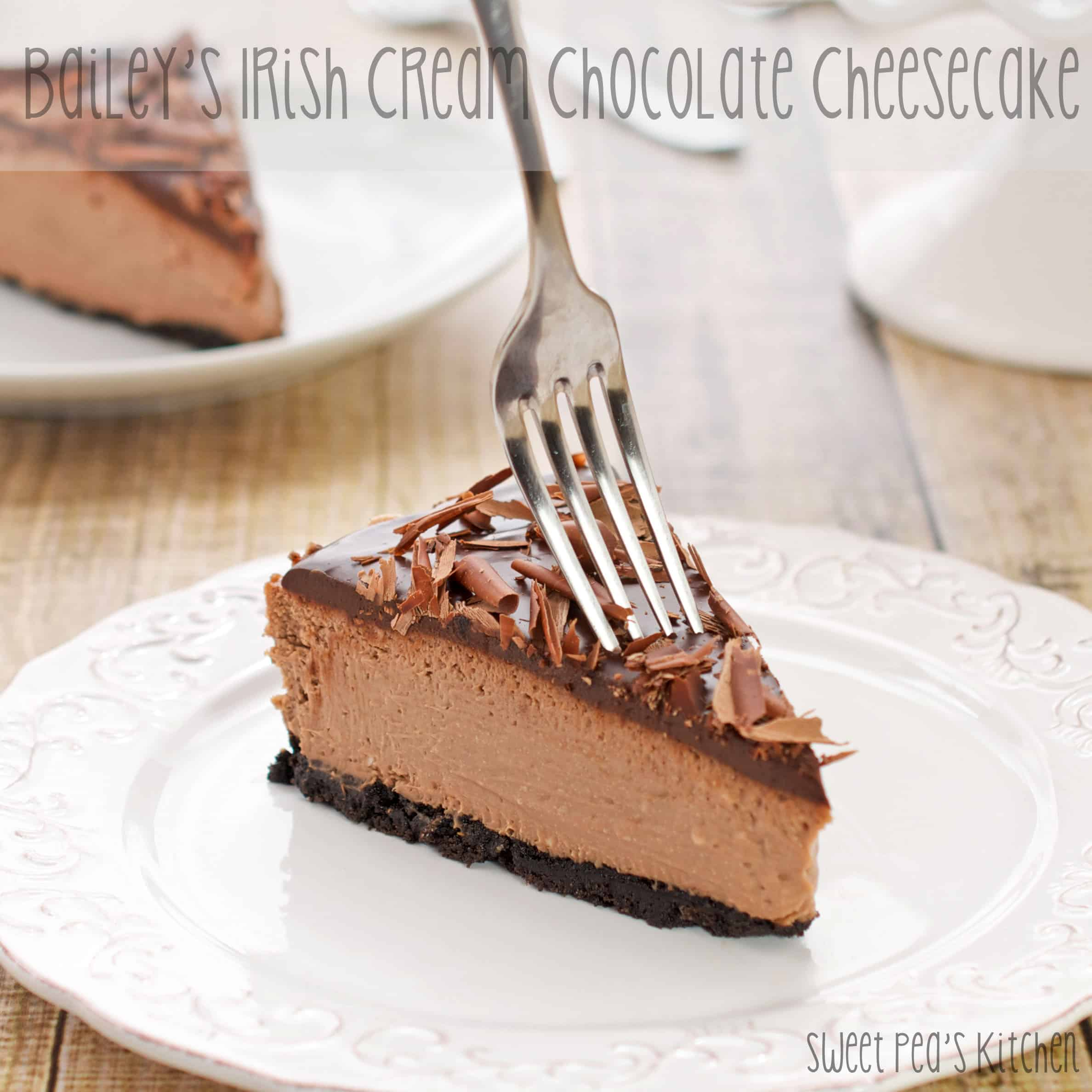 Bailey's Irish Cream Chocolate Cheesecake