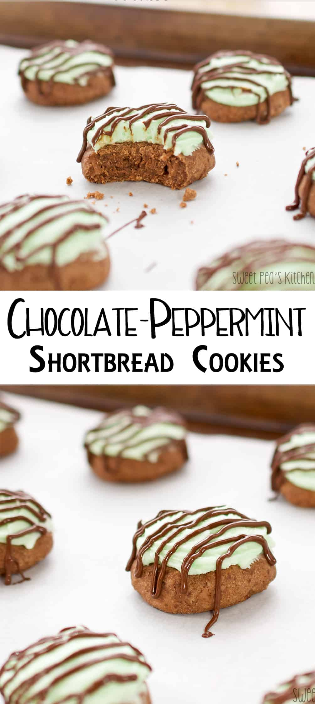 Chocolate-Peppermint Shortbread Cookies