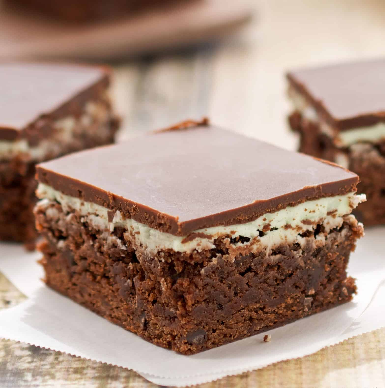 easy-chocolate mint brownies from scratch