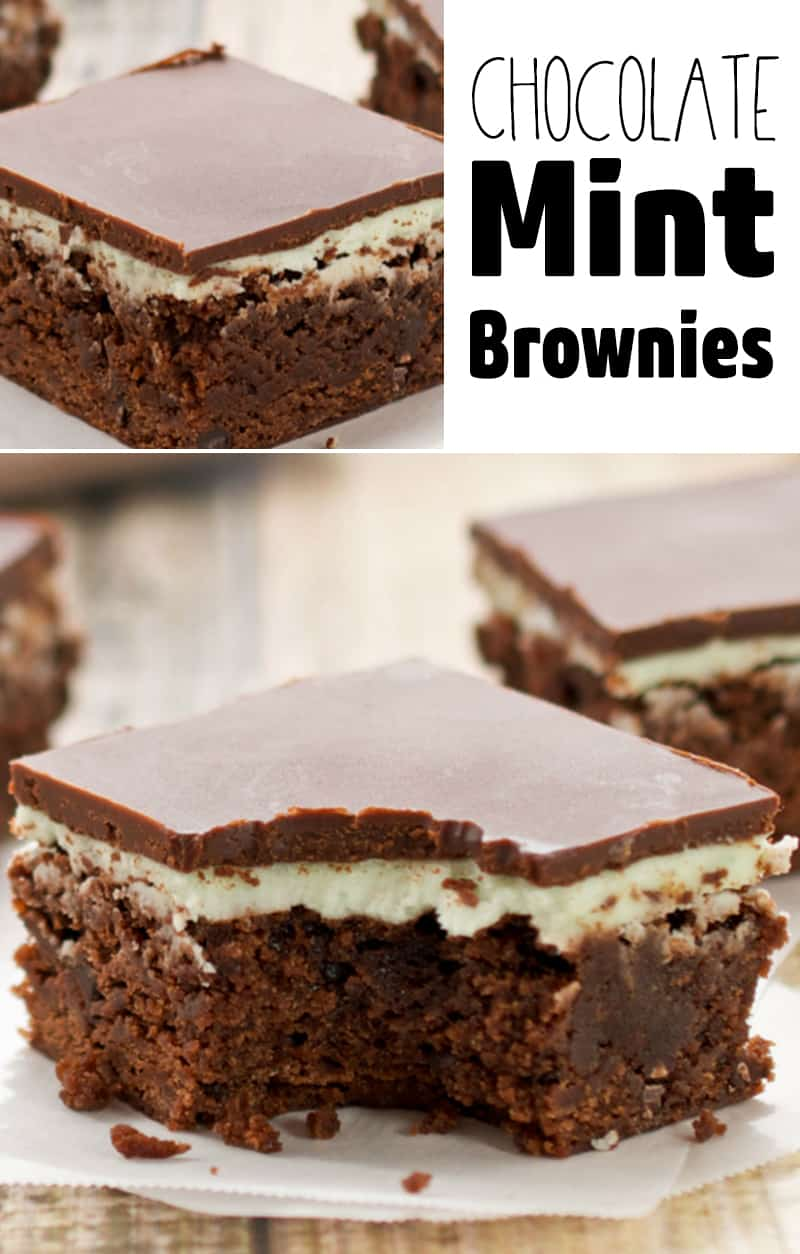 Easy Chocolate Mint Brownies From Scratch