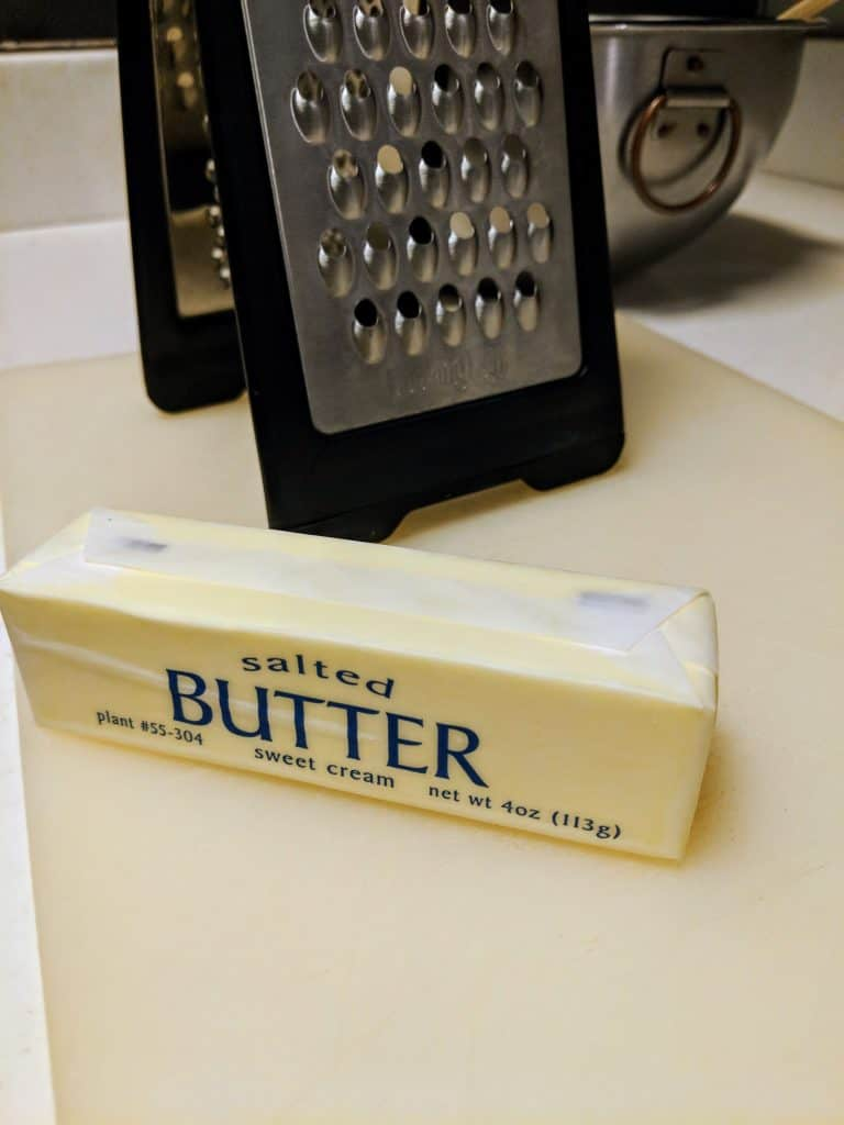 stick of butter on counter