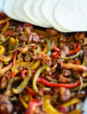 One PanSheet Pan Chicken Fajitas