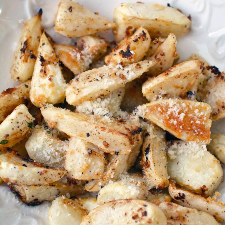 Oven Roasted Turnips with Thyme and Parmesan