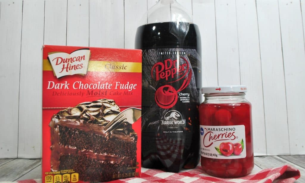 ingredients chocolate cherry Dr Pepper Cake