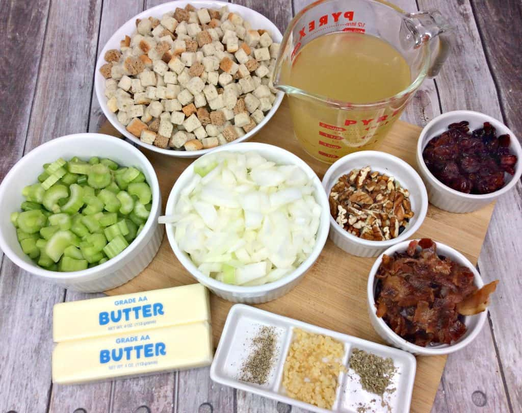 ingredients laid out for homemade dressing recipe