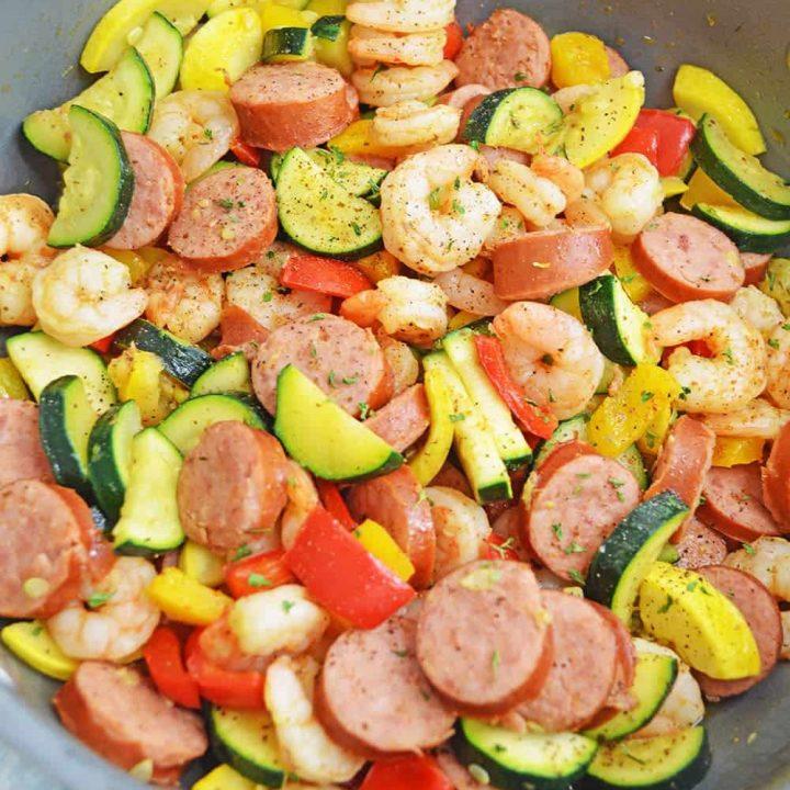 Cajun Shrimp Sausage Skillet
