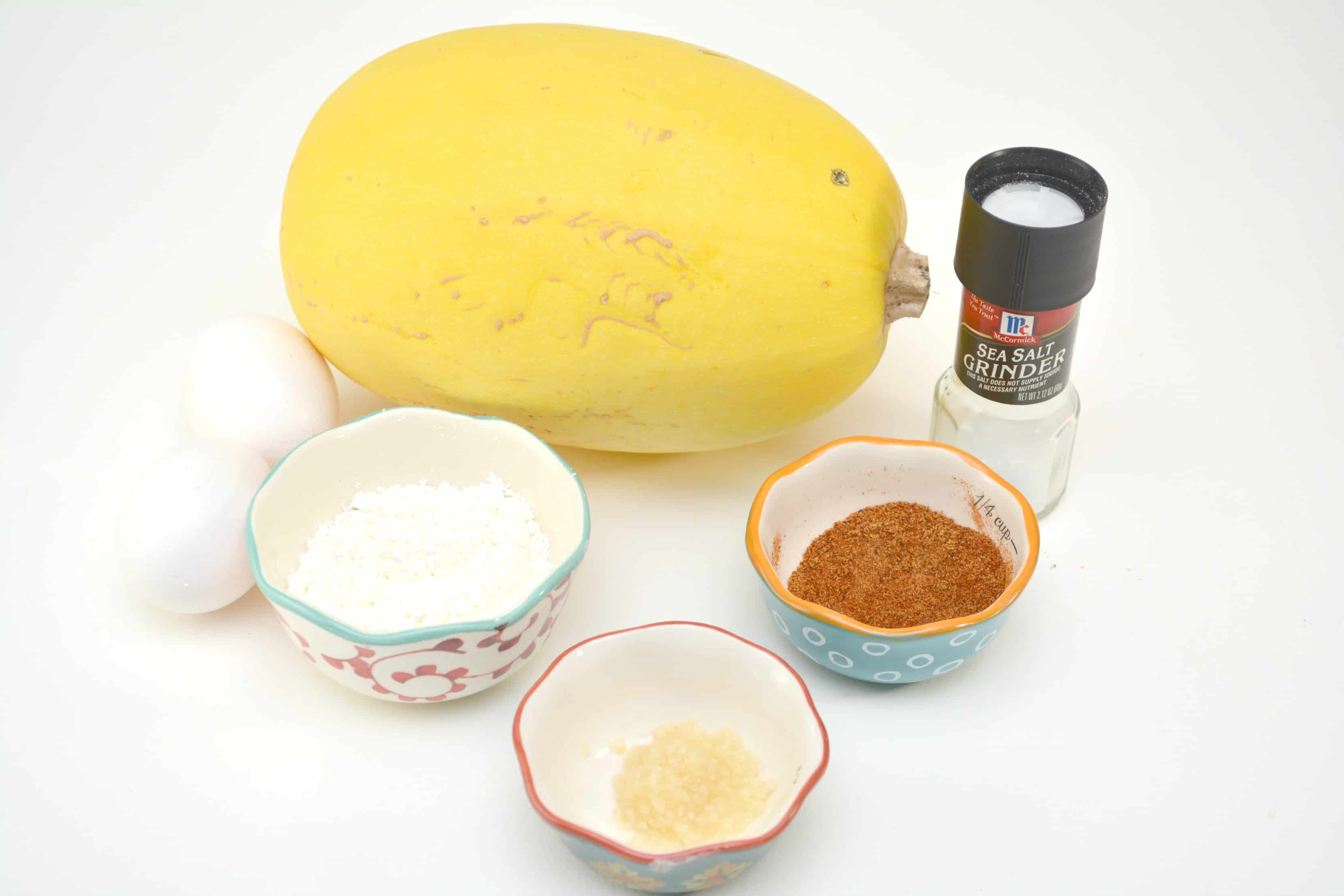 ingredients for spaghetti squash fritters