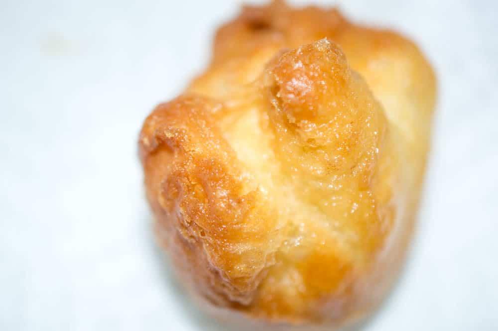 fried nutella dumpling on plate