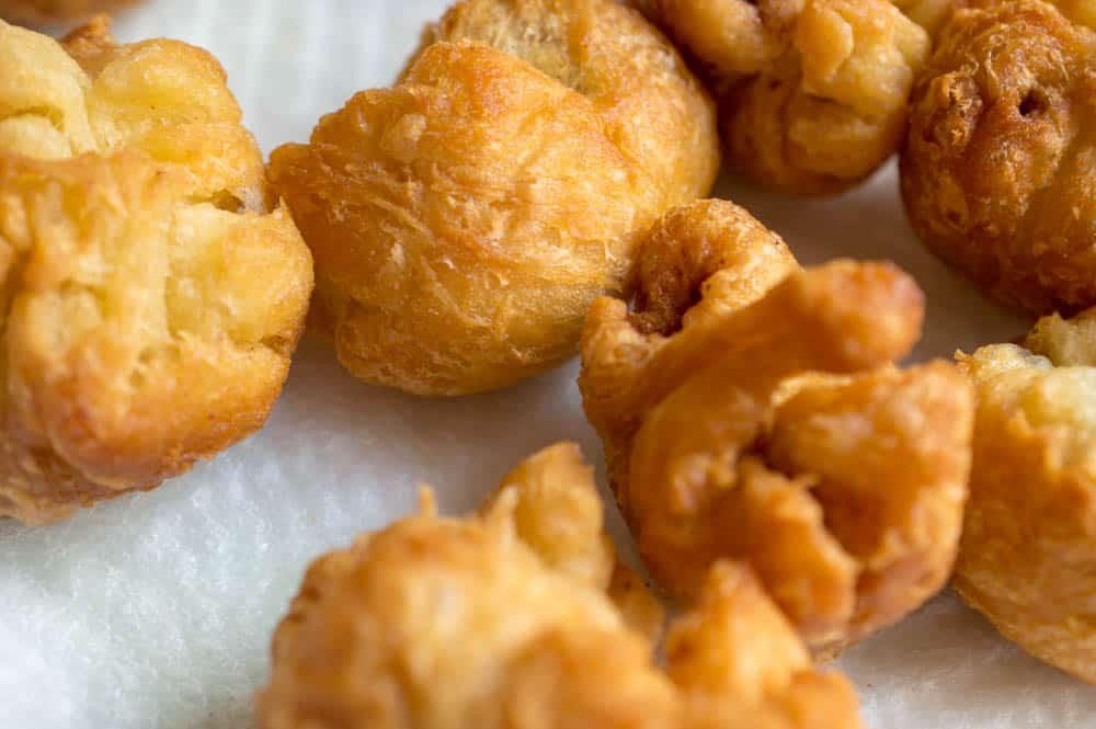 crescent roll friend nutella dumplings