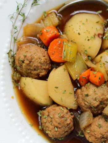 Meatballs and Potatoes Soup