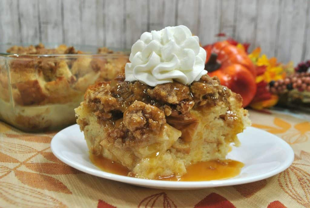 pumpkin french toast casserole on a plate