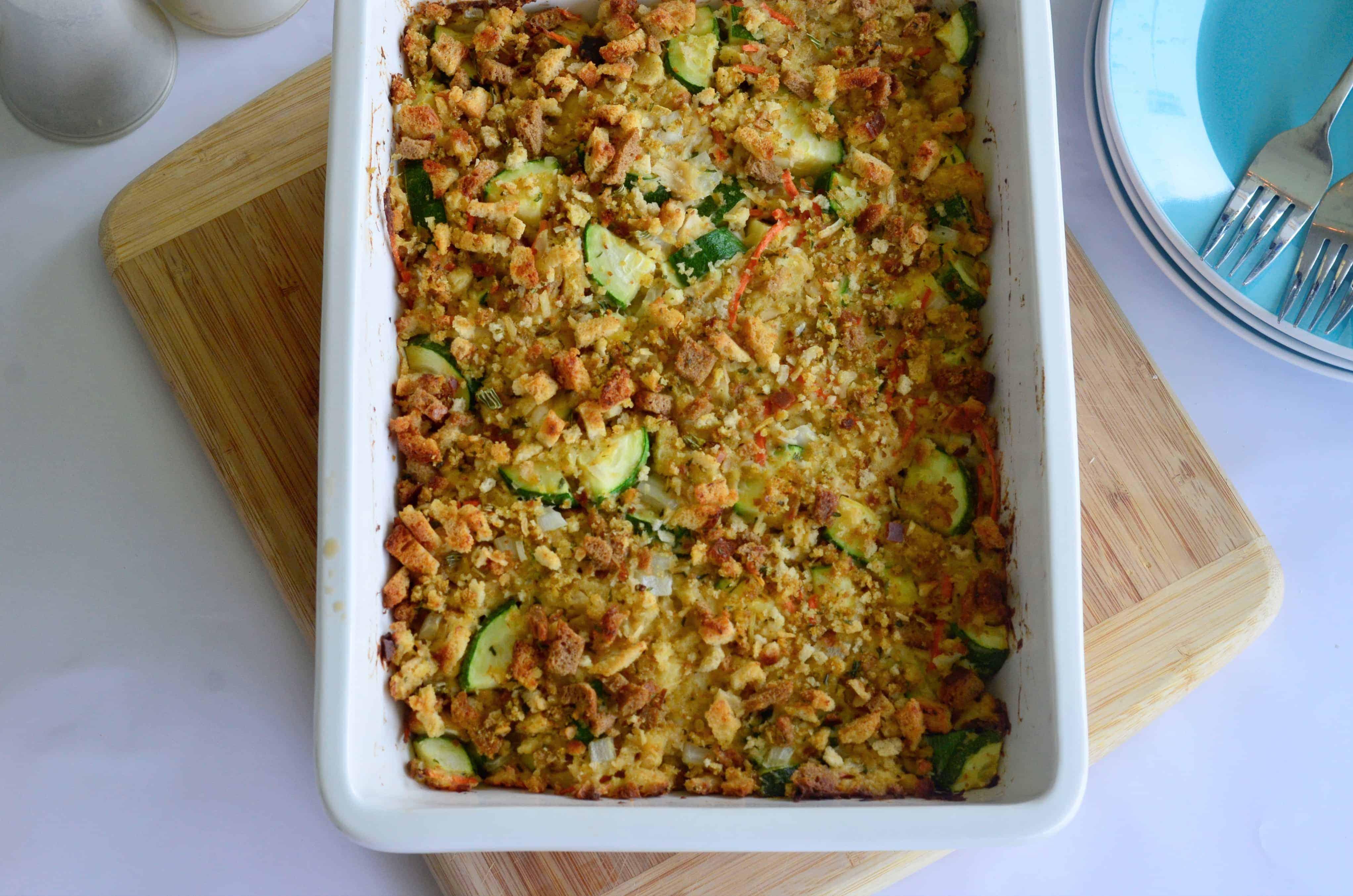 leftover turkey zucchini casserole