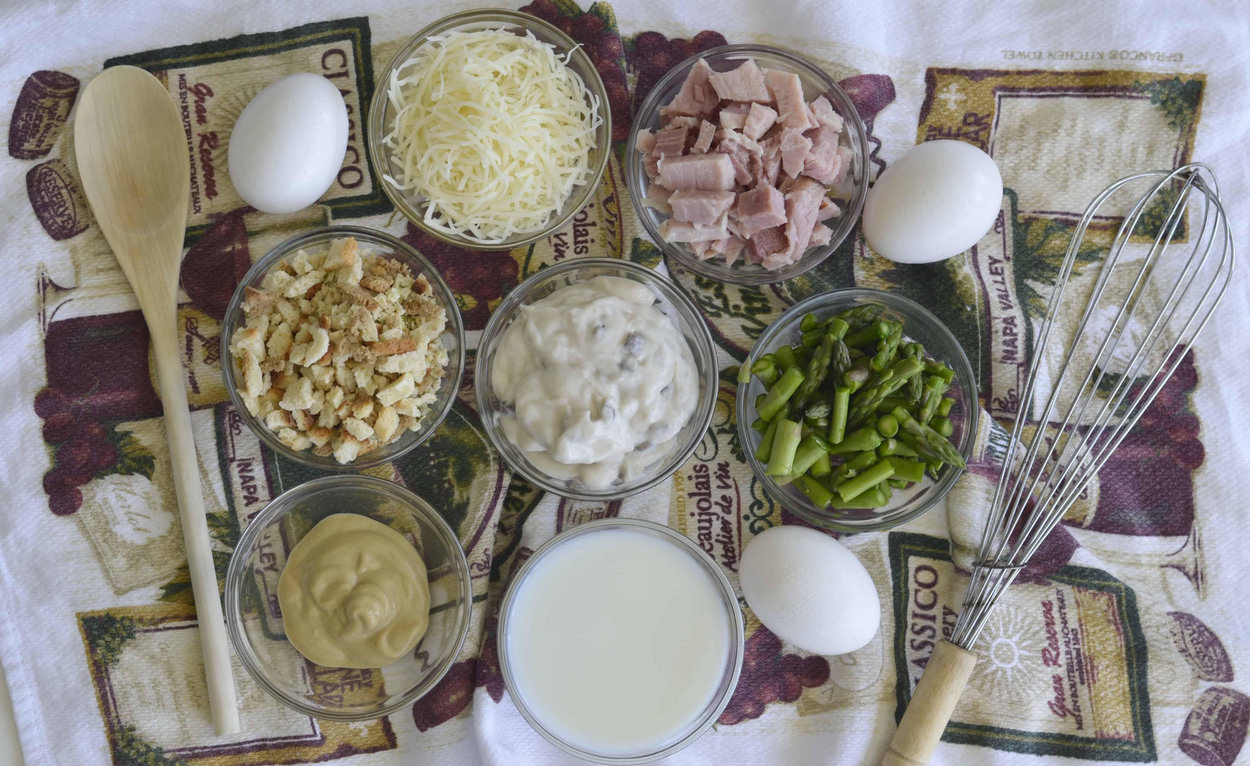 ingredients for ham casserole