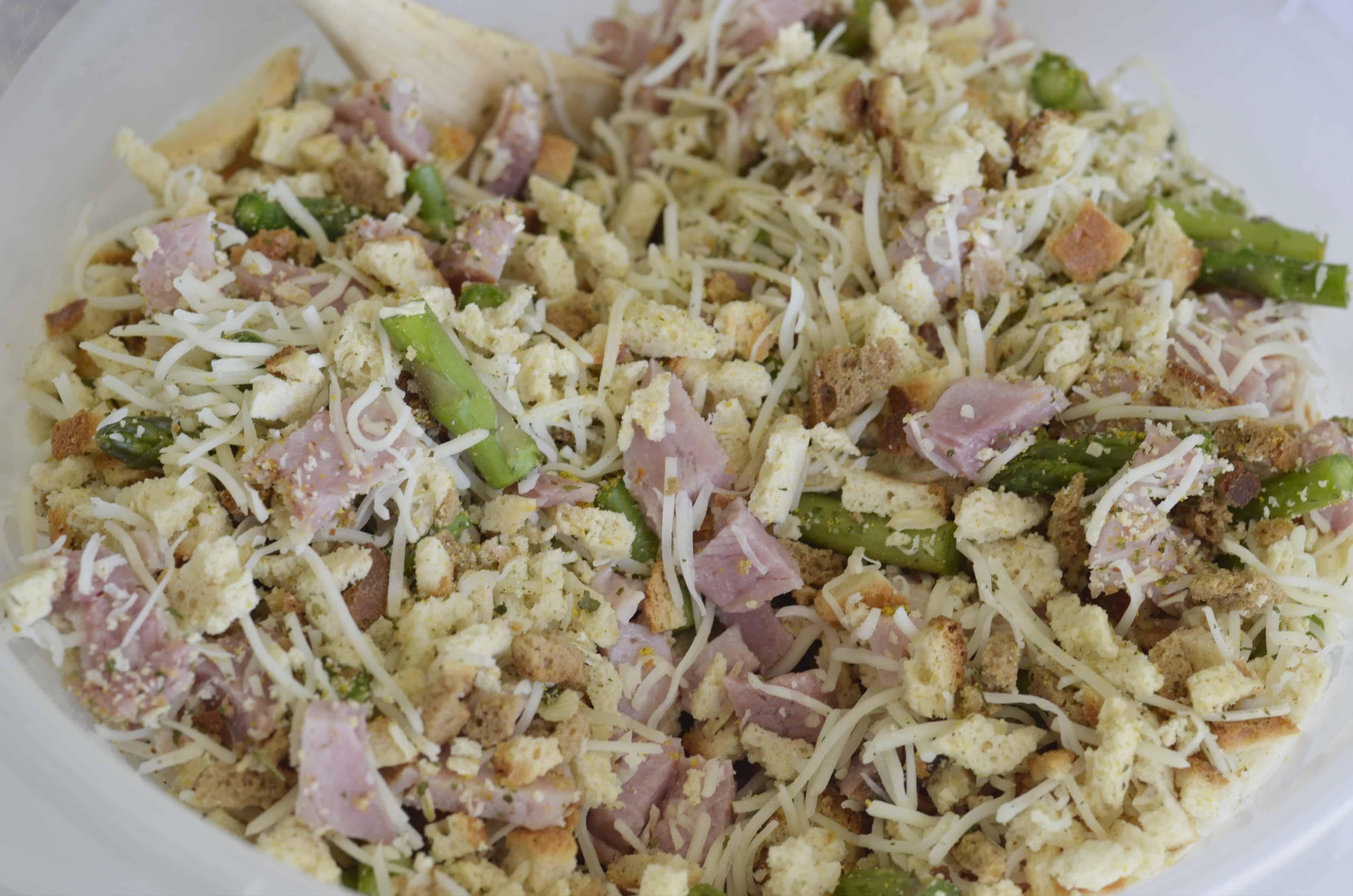 mixture for ham and asparagus casserole