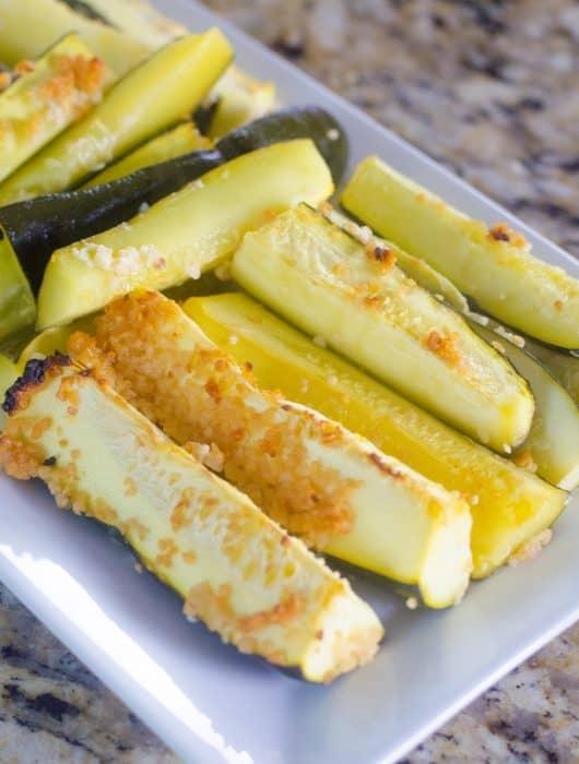 Baked Garlic Lemon Zucchini