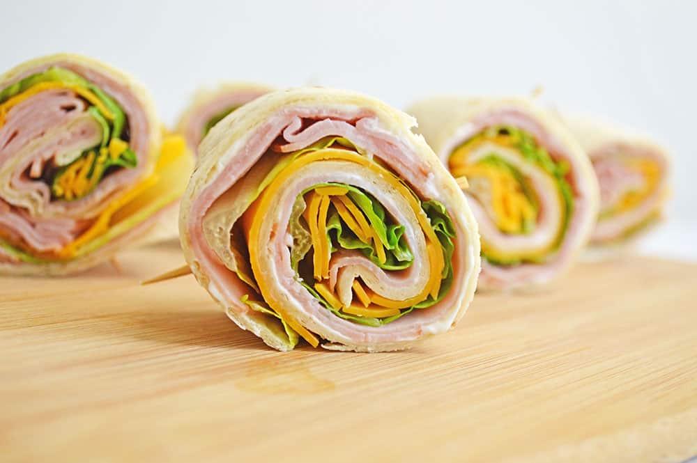 Ham And Cheese Pin Wheels recipe