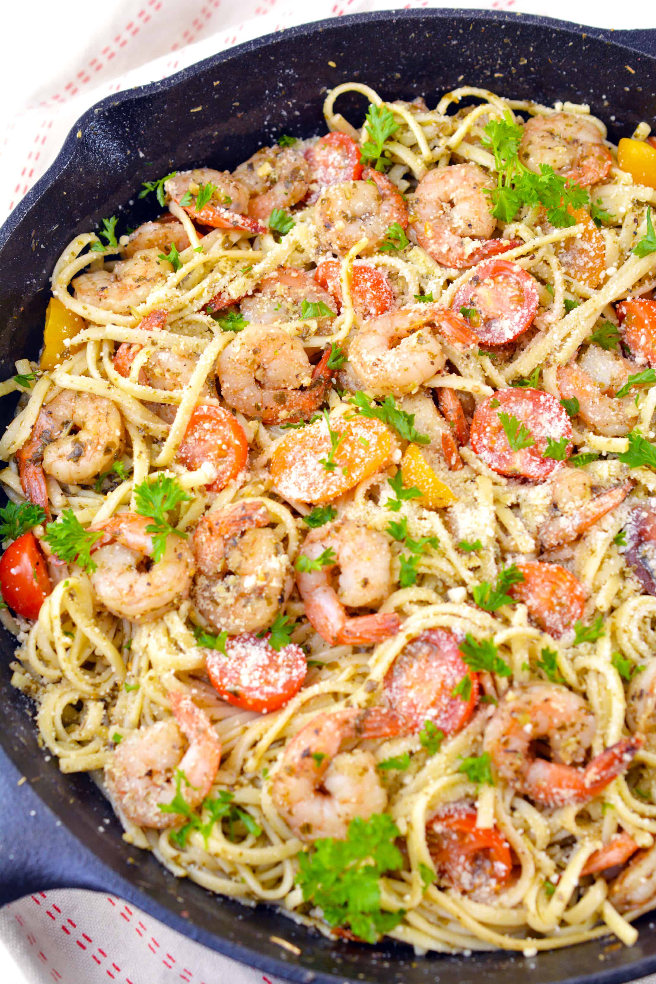 Shrimp Pesto Pasta Sweet Pea S Kitchen