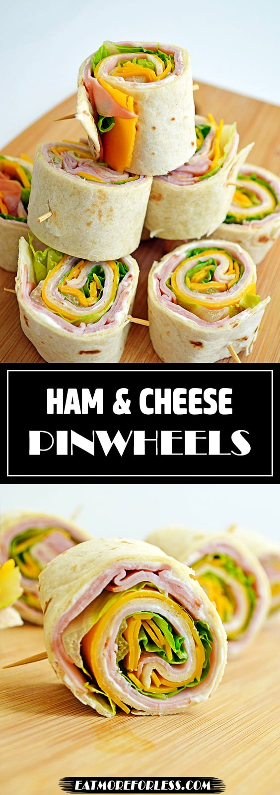 tortilla and ham rollup
