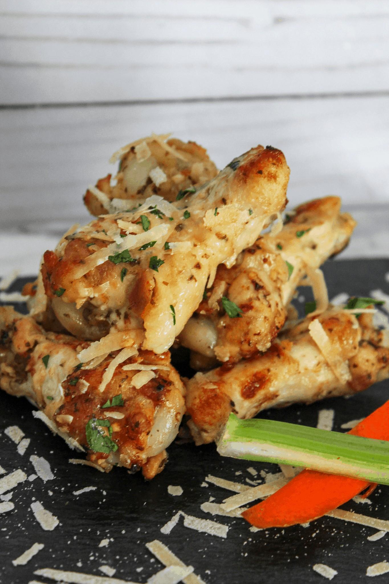 Garlic Parmesan Instant Pot Wings
