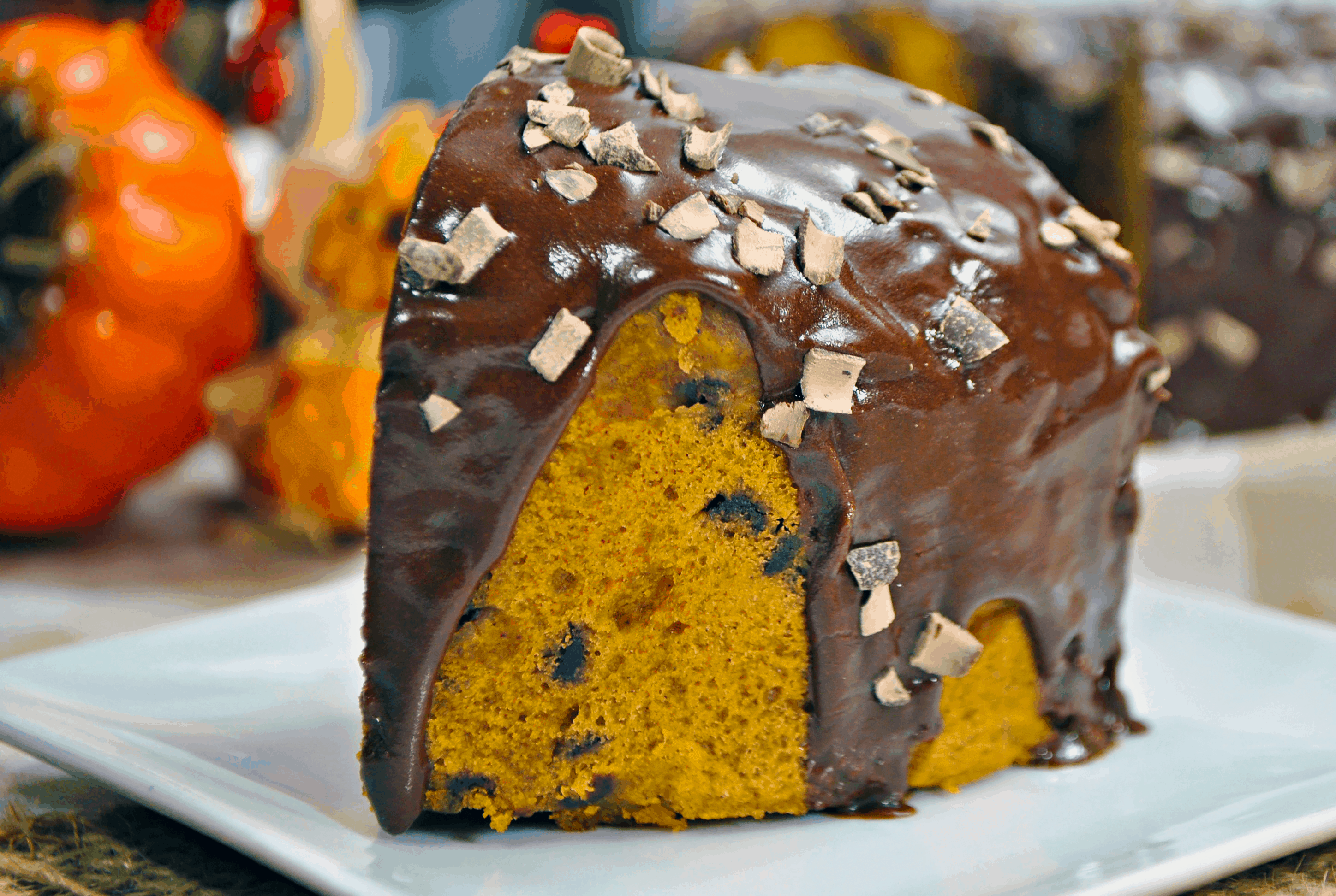 Instant Pot Pumpkin Cake Recipe on a white plate