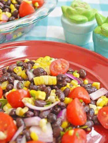 corn salad on a plate