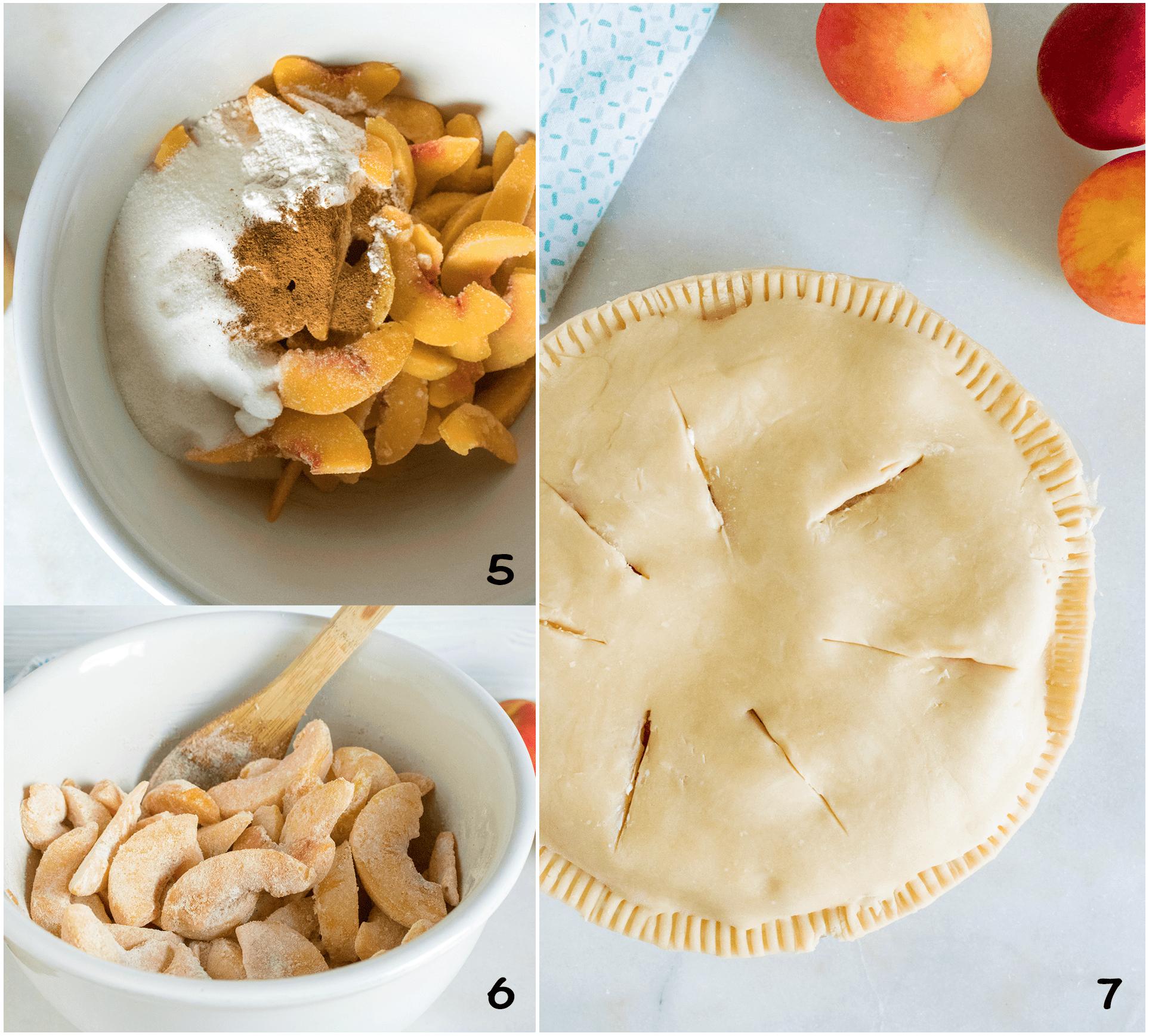 steps to make peach pie